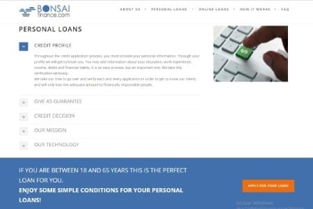 Personal Loans Online Bonsai Finance